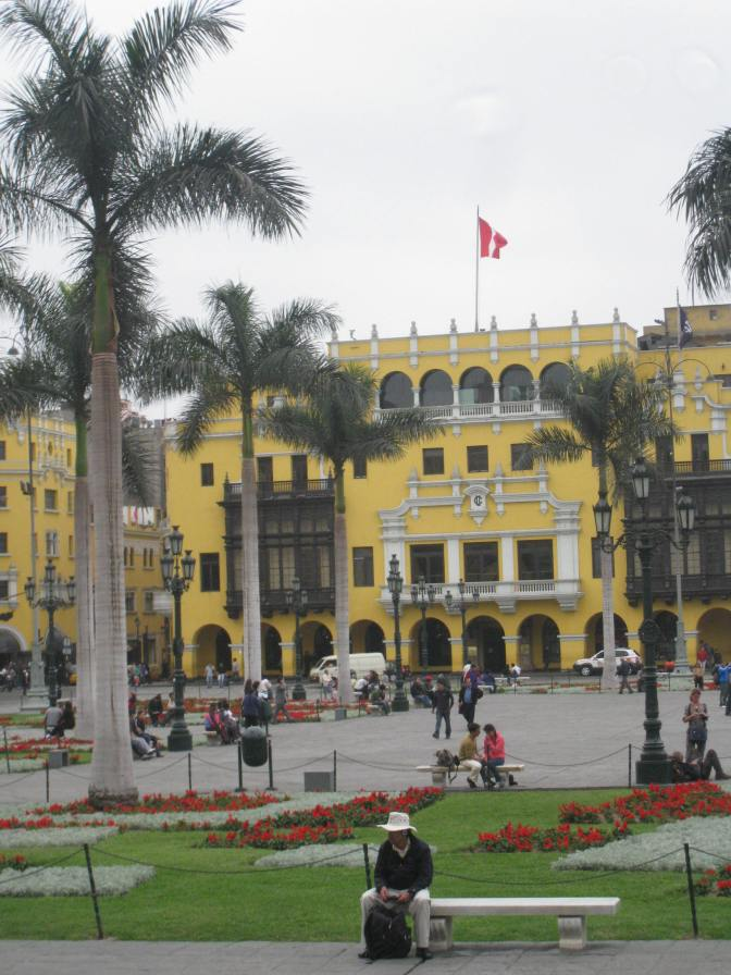 The Plaza de Armas in Lima