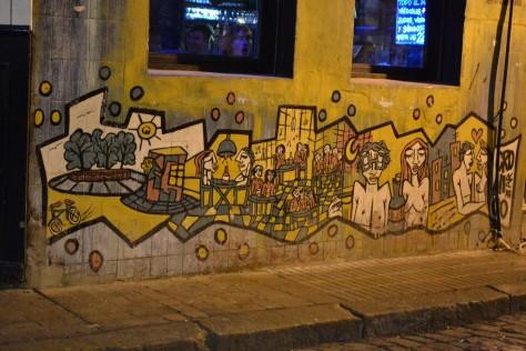 Street art near Plaza Serrano